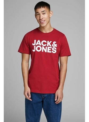 Jack & Jones Jack&Jones Erkek Baskılı Tişört Büyük Logo 12151955 Renkli